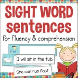 Kindergarten Sight Word Sentences for Fluency & Comprehension