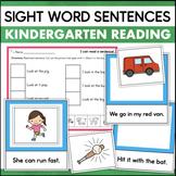 Kindergarten Sight Word Sentences for Fluency & Comprehension