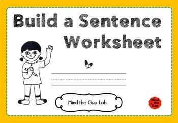 Build a Sentence! ( How to write simple sentences )