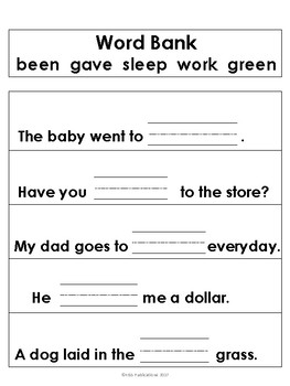 Sight Word Sentences 2nd Grade Edition