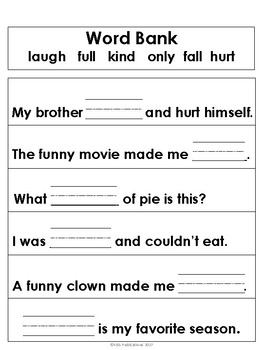 Sight Word Sentences 3rd Grade Edition