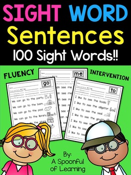 Sight Word Sentences and Intervention