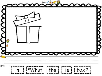 Sight Word Sentences Booklet