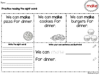 Sight Word Sentences Bundle Pack with 100 Sight Words!