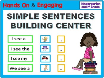 Kindergarten Sentence Building - Hands On!