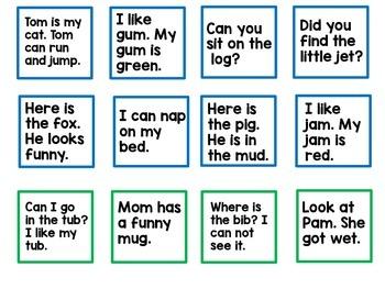 Kindergarten Sight Word Sentences Game