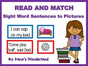 Sight Word Sentences Game