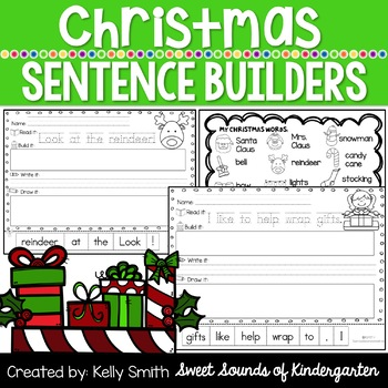 Christmas Sentence Builders!