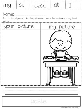 Sight Word Sentences Cut, Paste, Read and Practice All Year Bundle!
