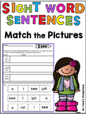 Sight Word Sentences Cut and Paste with CVC Words