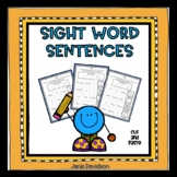 Sight Word Sentences - Cut and Paste