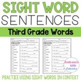 Sight Word Sentences: Dolch Grade Three