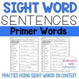 Sight Word Sentences: Dolch Primer