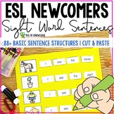 ESL Newcomer Activities - Sight Word Sentences Cut and Paste