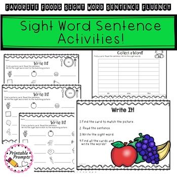 Sight Word Sentences- Favorite Foods