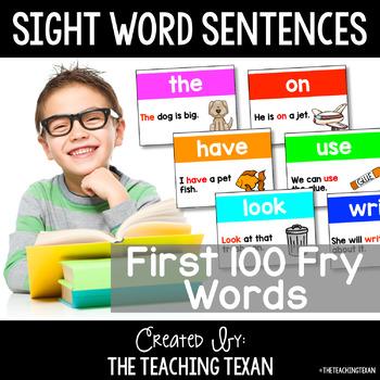 Sight Word Sentences Fluency Building Activity Cards