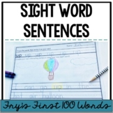 Sight Word Sentences {Fry' First 100 Words}