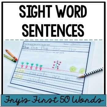 Sight Word Sentences {Fry's First 50 words}