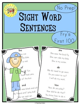 Sight Word Sentences     Fry's First Hundred