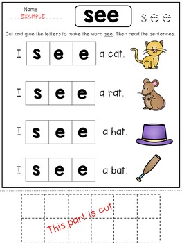 FREE Sight Word Fluency Pages