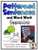 Sight Word Sentences- Opposites