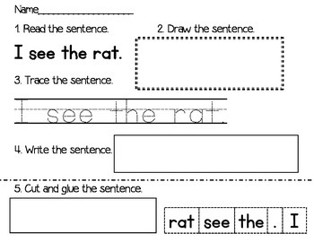 Sight Word Sentences Packet