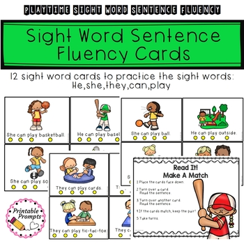 Sight Word Sentences- Playtime