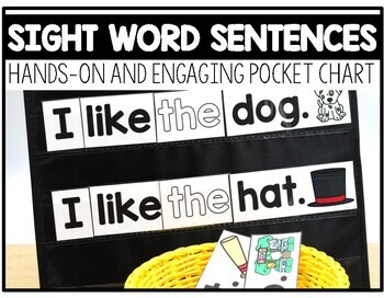 Sight Word Sentences Pocket Chart