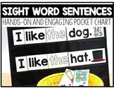 Sight Word Sentences Pocket Chart