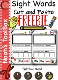 Sight Words Cut and Paste: Set 1 (Freedbie)