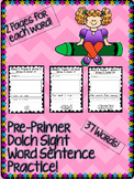 Sight Word Sentences Pre-Primer Pack!