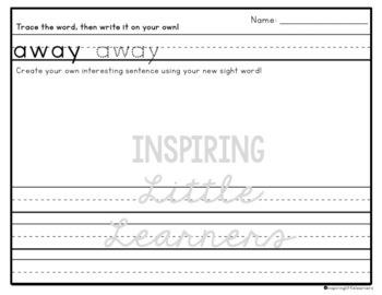 Sight Word Sentences {Pre-primer and Primer Words}