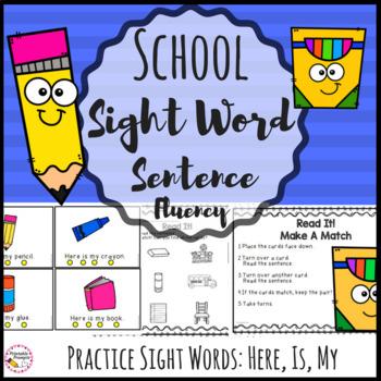 Sight Word Sentences - School