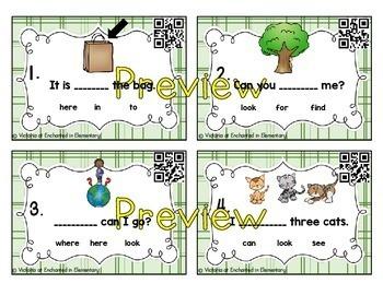 Sight Word Sentences Task Cards: 5 List Bundle