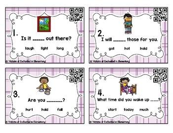 Sight Word Sentences Task Cards: Third Grade Set