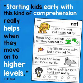 Sight Word Sentences for Guided Reading Levels C and D
