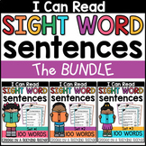 Sight Word Sentences Worksheets BUNDLE