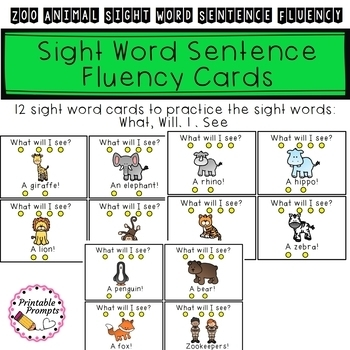 Sight Word Sentences- Zoo