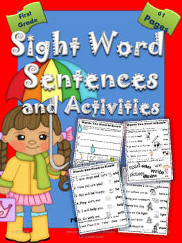 Sight Word Sentences and Activities