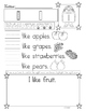Sight Word Sentences and Drawing for Fluency
