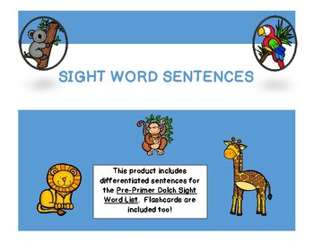 Sight Word Sentences and Flashcards