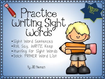 Sight Word Sentences and More- Dolch PRIMER List