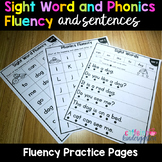 Sight Word Fluency Sentences and Phonics Fluency