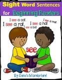 Sight Word Sentences Worksheets for K-1