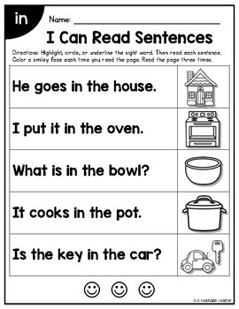Sight Word Sentences for Sight Word Fluency