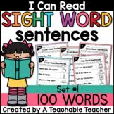 Sight Word Sentences for Sight Word Fluency