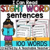 Sight Word Sentences for Sight Word Fluency {Set 3}