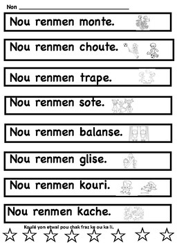 Sight Word Sentences in Haitian Creole
