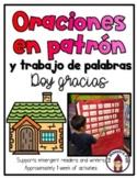 Sight Word Sentences in Spanish- Oraciones en patrón- Doy gracias