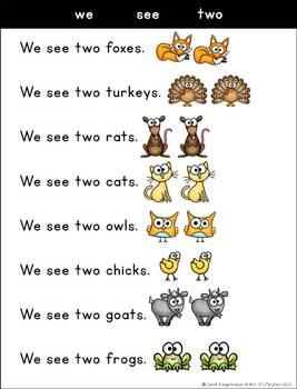 Sight Word Sentences {pre-primer}